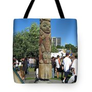 Death Of A Wood Carver Tote Bag by Kym Backland