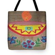 Decorative Earthen Diya Rangoli Tote Bag by Sonali Gangane