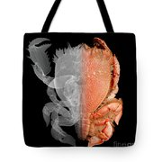 Deep Water Crab X-ray And Optical Image Tote Bag by Ted Kinsman