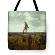 Defiance - Inviting A Shot Before Petersburg Tote Bag by Winslow Homer