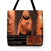 Details Of Symbols On Saint Rose Philippine Duchesne Sculpture. Tote Bag by Adam Long