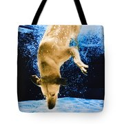 Diving Dog 3 Tote Bag by Jill Reger