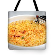 Diving In Noodle Soup Tote Bag by Paul Ge