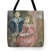 Double portrait of Charley and Jeannie Thomas Tote Bag by Berthe Morisot