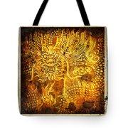 Dragon Painting On Old Paper Tote Bag by Setsiri Silapasuwanchai
