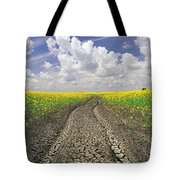 Dried Up Machinery Tracks Tote Bag by Dave Reede