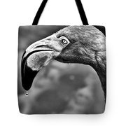 Dripping Flamingo - Bw Tote Bag by Christopher Holmes