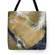 Dust And Smoke Over Iraq And The Middle Tote Bag by Stocktrek Images
