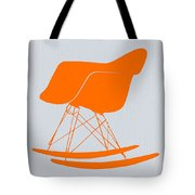 Eames Rocking Chair Orange Tote Bag by Naxart Studio
