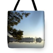 Early Morning On Lost Lake Tote Bag by Michelle Calkins