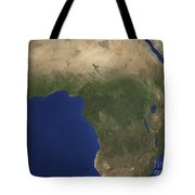 Earth Showing Landcover Over Africa Tote Bag by Stocktrek Images