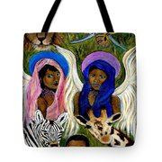 Earthangels Abeni And Adesina From Africa Tote Bag by The Art With A Heart By Charlotte Phillips