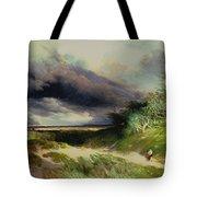 East Hamptonlong Island Sand Dunes Tote Bag by Thomas Moran