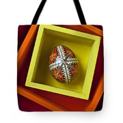 Easter Egg In Box Tote Bag by Garry Gay