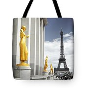 Eiffel Tower From Trocadero Tote Bag by Elena Elisseeva