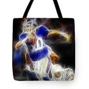 Eli Manning Quarterback Tote Bag by Paul Ward