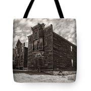 Elkhorn Ghost Town Public Halls 3 - Montana Tote Bag by Daniel Hagerman