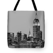 Empire State Bw Tote Bag by Susan Candelario