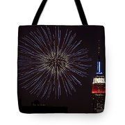 Empire State Fireworks Tote Bag by Susan Candelario