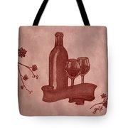 Enjoying Red Wine  Painting With Red Wine Tote Bag by Georgeta  Blanaru