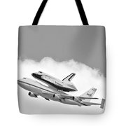 Enterprise Shuttle Over NY Tote Bag by Regina Geoghan