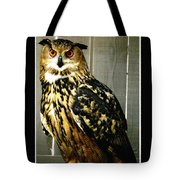 Eurasian Eagle-owl With Oil Painting Effect Tote Bag by Rose Santuci-Sofranko