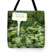 European Markets - Basil and Dill Tote Bag by Carol Groenen