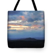 Evening Sky Over The Quabbin Tote Bag by Randi Shenkman