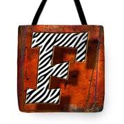 F Tote Bag by Mauro Celotti