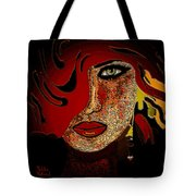 Face 10 Tote Bag by Natalie Holland
