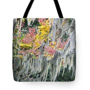 Fall Colors In Spanish Moss Tote Bag by Carolyn Marshall