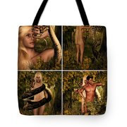 Fall Of Eve Tote Bag by Lourry Legarde