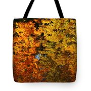 Fall Textures In Water Tote Bag by LeeAnn McLaneGoetz McLaneGoetzStudioLLCcom