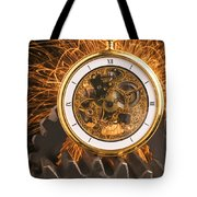 Fancy Pocketwatch On Gears Tote Bag by Garry Gay