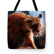Fantasy Cougar Tote Bag by Paul Ward