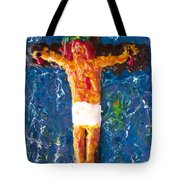 Father  Forgive  Them Tote Bag by Carl Deaville