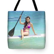 Female Paddler II Tote Bag by Tomas del Amo