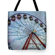 Ferris Wheel Tote Bag by Susan Candelario