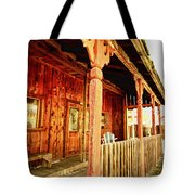 Fiddletown Saloon Tote Bag by Cheryl Young