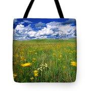 Field Of Flowers, Grasslands National Tote Bag by Robert Postma