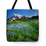 Fields Of Paradise Tote Bag by Mike  Dawson