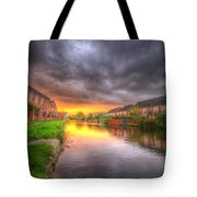 Fire And Storm Tote Bag by Yhun Suarez