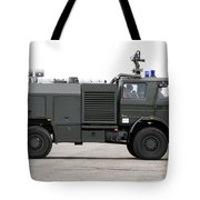 Fire Engine Of The Belgian Army Located Tote Bag by Luc De Jaeger