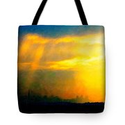 Fire In The City Tote Bag by Wingsdomain Art and Photography