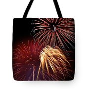 Fireworks Wixom 3 Tote Bag by Michael Peychich