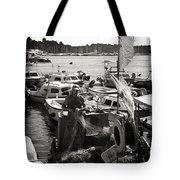 Fisherman Tote Bag by Madeline Ellis