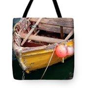 Fishing Boat Tote Bag by Carlos Caetano