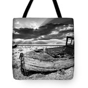 Fishing Boat Graveyard Tote Bag by Meirion Matthias