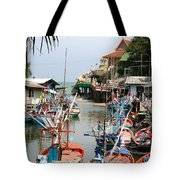 Fishing Boats Tote Bag by Adrian Evans