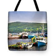 Fishing Boats In Newfoundland Tote Bag by Elena Elisseeva